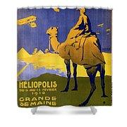 Heliopolis, Egypt - Grande Semaine D'aviation - Retro Travel Poster - Vintage Poster Shower Curtain