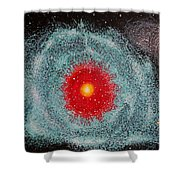 Helix Nebula Shower Curtain by Georgeta  Blanaru