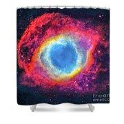 Helix Nebular Shower Curtain