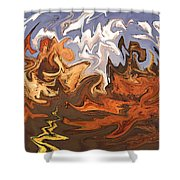 Heavy Weather News - Abstract Modern Art Shower Curtain