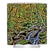Hellbrook Cascades In Autumn Shower Curtain