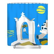 Hellenic Holiday Shower Curtain