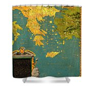 Hellenic Peninsula Greece, Albania, Bosnia And Bulgaria Shower Curtain