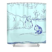 Hello Birdie Shower Curtain