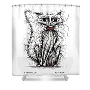 Hello Fuzzy Cat Shower Curtain