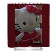 Hello Kitty Backpack Shower Curtain
