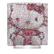 Hello Kitty Button Mosaic Shower Curtain