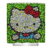Hello Kitty Mm Candy Mosaic Shower Curtain