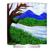 Hello Spring Time Shower Curtain