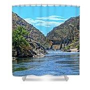 Hells Canyon Dam  Shower Curtain
