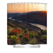 Hells Canyon Sunrise Shower Curtain