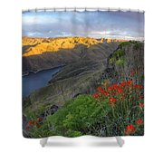 Hells Canyon View Shower Curtain