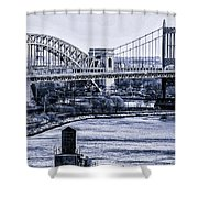 Hells Gate Bridge Triborough Bridge  Shower Curtain