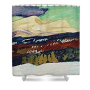 Helmer Osslund, Areskutan Autumn Shower Curtain