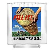 Help Harvest War Crops - Fill It Shower Curtain
