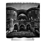 Helsingborg Black And White Shower Curtain