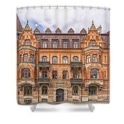 Helsingborg Building Facade Shower Curtain