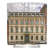 Helsingborg Building Frontage Shower Curtain