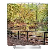 Helsingborg Jordbodalen Forest Path Shower Curtain