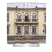 Helsingborg Old Building Facade Shower Curtain