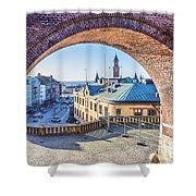 Helsingborg Through The Archway Shower Curtain