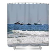 Helter Skelter At Sea Shower Curtain