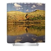 Helvellyn Mountain Reflections Shower Curtain