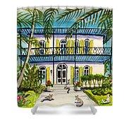 Hemingway's Home Key West Shower Curtain