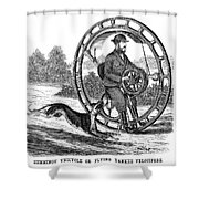 Hemmings Unicycle, 1869 Shower Curtain by Granger