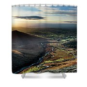Hen Mountain From Spelga Shower Curtain