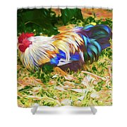 Hen With Chick Shower Curtain