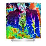 Hendrix Shower Curtain by David Lee Thompson
