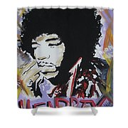 Hendrix Thoughts Shower Curtain