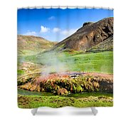 Hengill Geothermal Area Iceland Shower Curtain