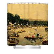 Henley Regatta Shower Curtain
