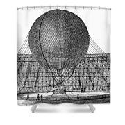 Henri Giffard: Balloon Shower Curtain