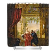 Henri Iv And His Mistress Shower Curtain
