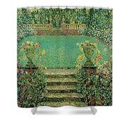 Henri Le Sidaner 1862 - 1939 Market Garden, Gerberoy Shower Curtain