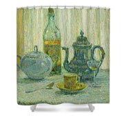 Henri Le Sidaner 1862 - 1939 Still Life Shower Curtain