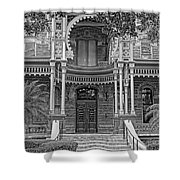 Henry B. Plant Museum Entry Bw Shower Curtain