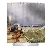 Henry Barlow Carter 1795-1867 Loss Of The Scarborough Lifeboat 24 May 1836 Shower Curtain