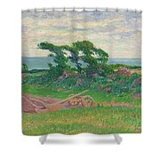 Henry Moret 1856 - 1913 The Plough Shower Curtain