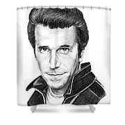 Henry Winkler The Fonz Shower Curtain