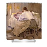 Her First Born 1888 Shower Curtain