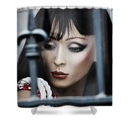 Her Lips My Fight  Shower Curtain