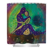 Her Loves Embrace Divine Love Series No. 1006 Shower Curtain