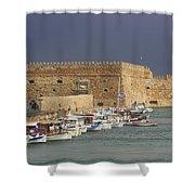 Heraklion Castle Crete Greece Shower Curtain