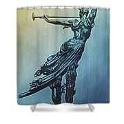 Heraldic Memorial Statue At Gettysburg Shower Curtain