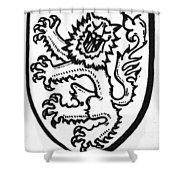 Heraldry: Lion Shower Curtain