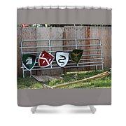Heraldry Shields At Renfaire Shower Curtain
